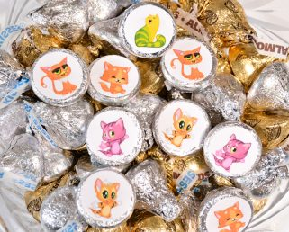 Cute Cat Stickers For HersheyR Kisses Shower Birthday