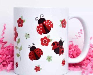 Ladybug Coffee Mug, Ladybird Coffee Mug