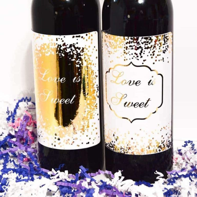 1 2 Wine Bottle Labels