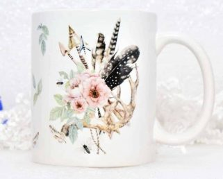 Tribal Boho Coffee Mug Gift Rustic Coffee Mug