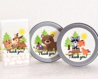 forest animal party labels