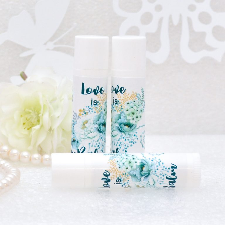 30 Mint Personalized Lip Balm Favors And Labels Party Decor
