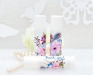 pink rustic lip balm labels