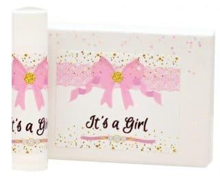 it's a girl lip balm labels