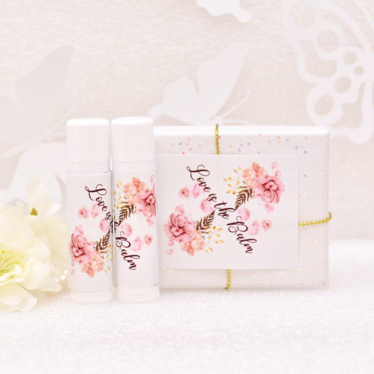 30 Personalized Chapstick Labels Bridal Shower Favors