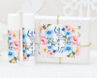 pink and blue rustic chapstick labels