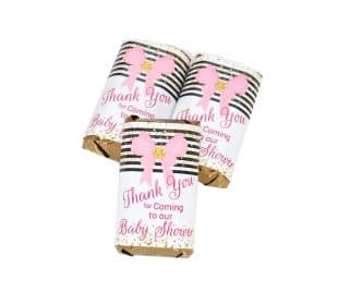 girl baby shower candy wrappers