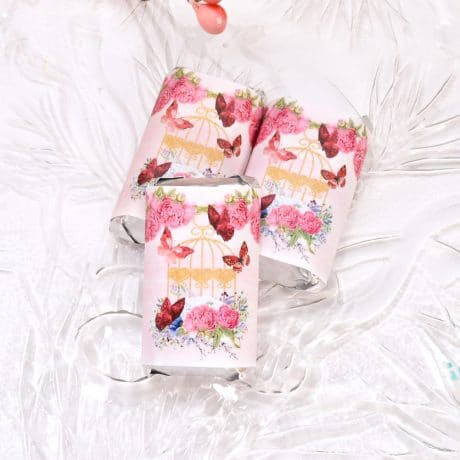 fuchsia floral candy wrappers