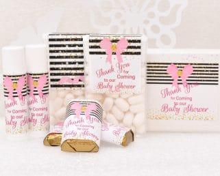 girl baby shower labels kit