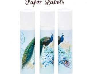 peacock wedding labels