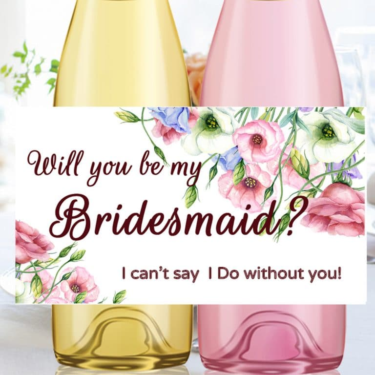 Will You Be My Wedding Wine Labels