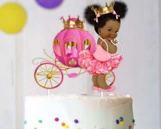 african american princess centerpiece