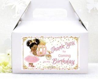 birthday princess gable box