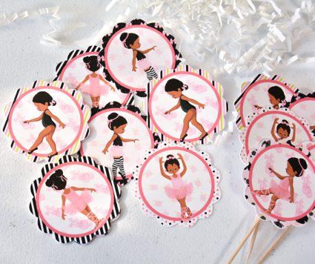 ballerina birthday tags