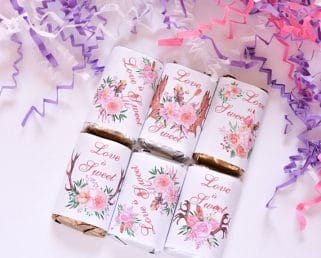 Boho wedding candy wrappers