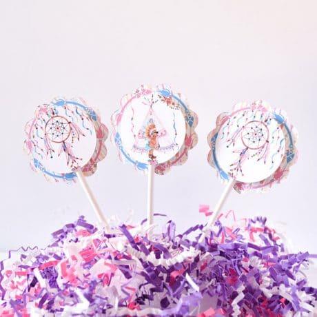 boho baby shower cupcakes