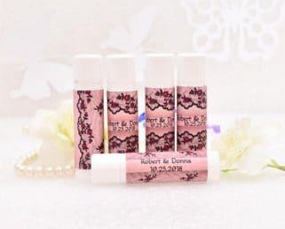 boho lace chapstick labels