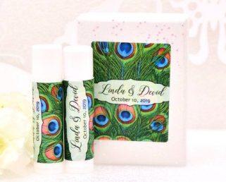 Peacock Lip Balm Labels