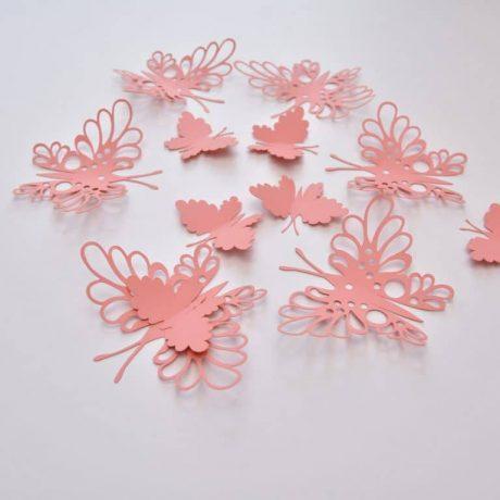 20 Paper Butterflies, Butterfly Wall Stickers, Butterfly Decals, Butterfly Wall Decor