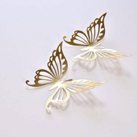 14 Gold Butterfly Wedding Decoration, Gold Wedding Butterflies