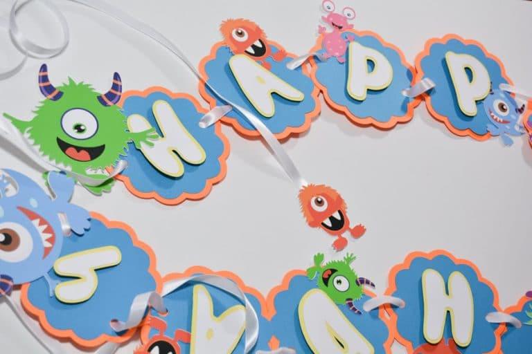 Hy Birthday Monster Banner Baby