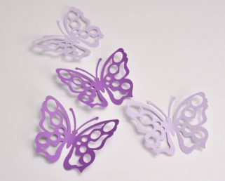 16 Purple and Lilac Butterfly Party Decoration, Butterfly Wall Decals