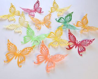 18 Fall Color Paper Butterfly Decor, Butterfly Wall Stickers, Butterfly Decals