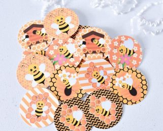 Bee Baby Shower Tags, Bee Party Favor Supplies, Bee Birthday Decorations