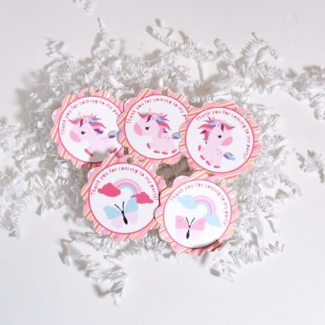 Unicorn Baby Shower Tags, Unicorn Birthday Tags, Unicorn Party Favor Tags