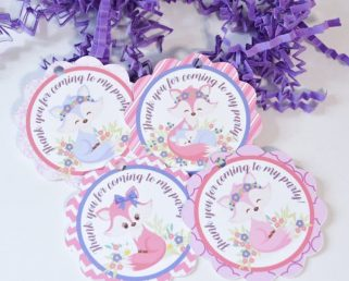 Funny Fox Tags, Fox Party Favor Tags, Fox Baby Shower Supplies