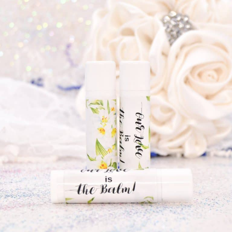 30 Lily Wedding Stickers Personalized Lip Balm Labels Lilies