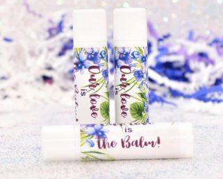 Violet Lip Balm Stickers