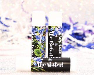 30 Personalized Lip Balm Labels, Viola Wedding Lip Balm Labels