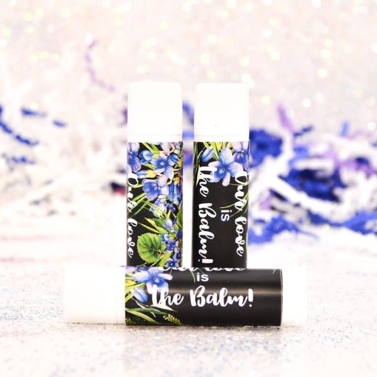 30 Personalized Lip Balm Labels Viola Wedding