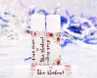 burgundy lip balm labels