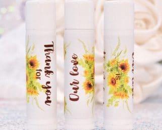sunflowers chapstick labels