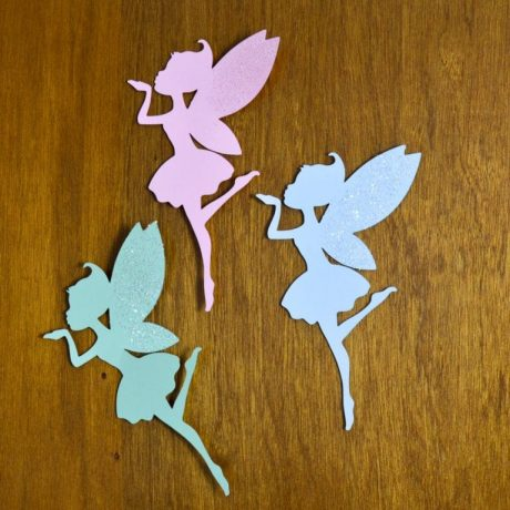 Set of 7 Fairy Wall Art, Fairies Baby Shower Wall Decor, Fairy Craft, Large Fairy