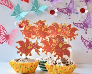 dragon birthday capcakes