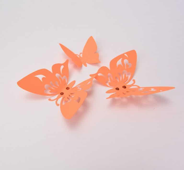 Orange 3D Butterflies Wall Decor Butterfly Home Decorations