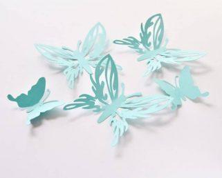 Butterfly Birthday Decorations, Large Blue Butterflies, 3D Paper Butterflies