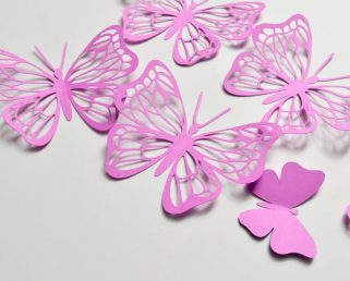 3D Butterflies Stickers, Paper Butterfly Wall Art, 3D Paper Wall Butterfly Decoration