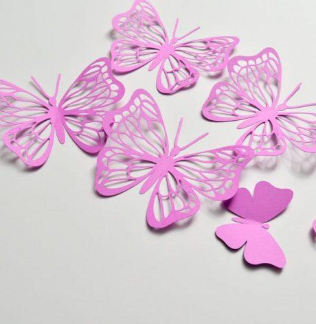 3D Butterflies Stickers, Paper Butterfly Wall Art, 3D Paper Wall Butterfly Decoration