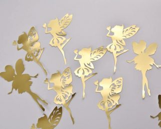 Gold Fairy Decoration, Fairy Wall Stickers, Fairy Baby Room Decoration