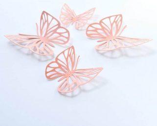 Salmon Butterflies Wall Stickers, Wall Paper Butterflies