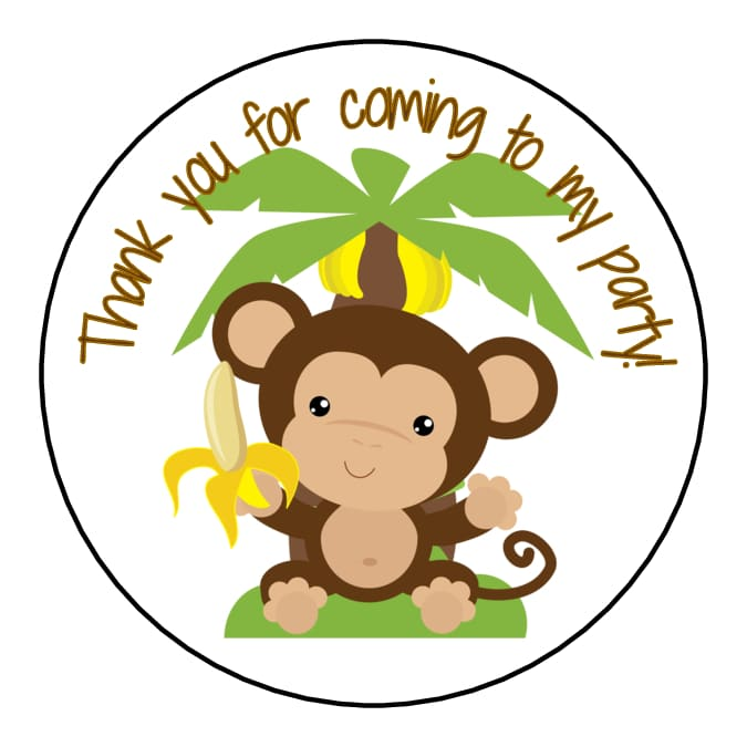 Monkey Baby Shower Party Favors: 40 Monkey Baby Shower Favors Labels