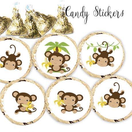 monkey kiss stickers