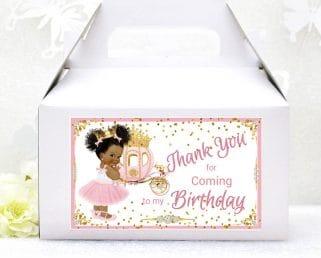 princess birthday party box