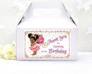 princess party gable box