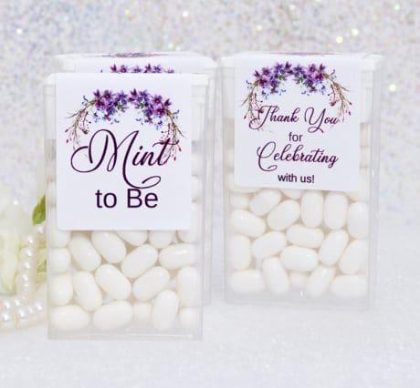 Purple Mint to Be Tic Tac Labels