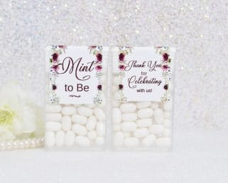 Burgundy Bridal Shower Tic Tac Labels